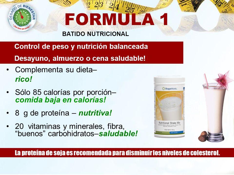 FORMULA 1 Complementa su dieta– rico!