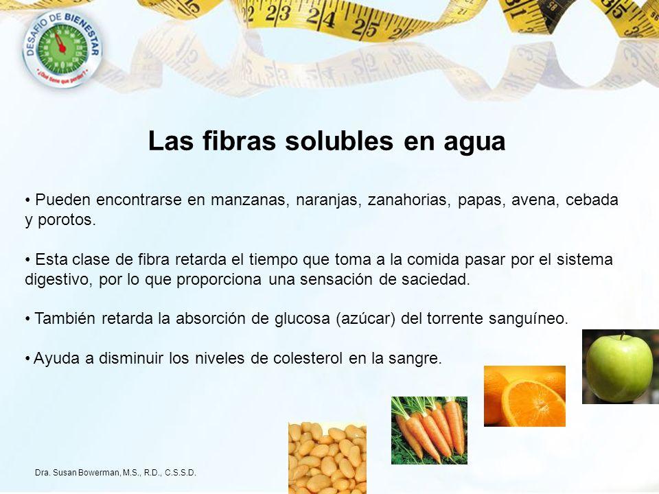 Las fibras solubles en agua