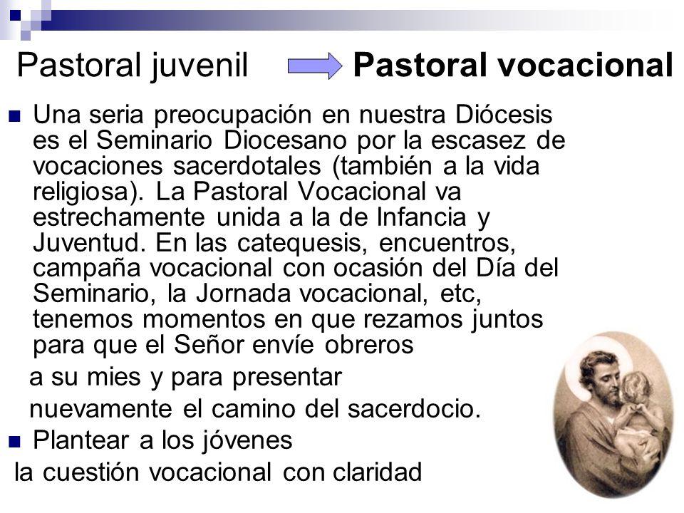 Pastoral juvenil Pastoral vocacional