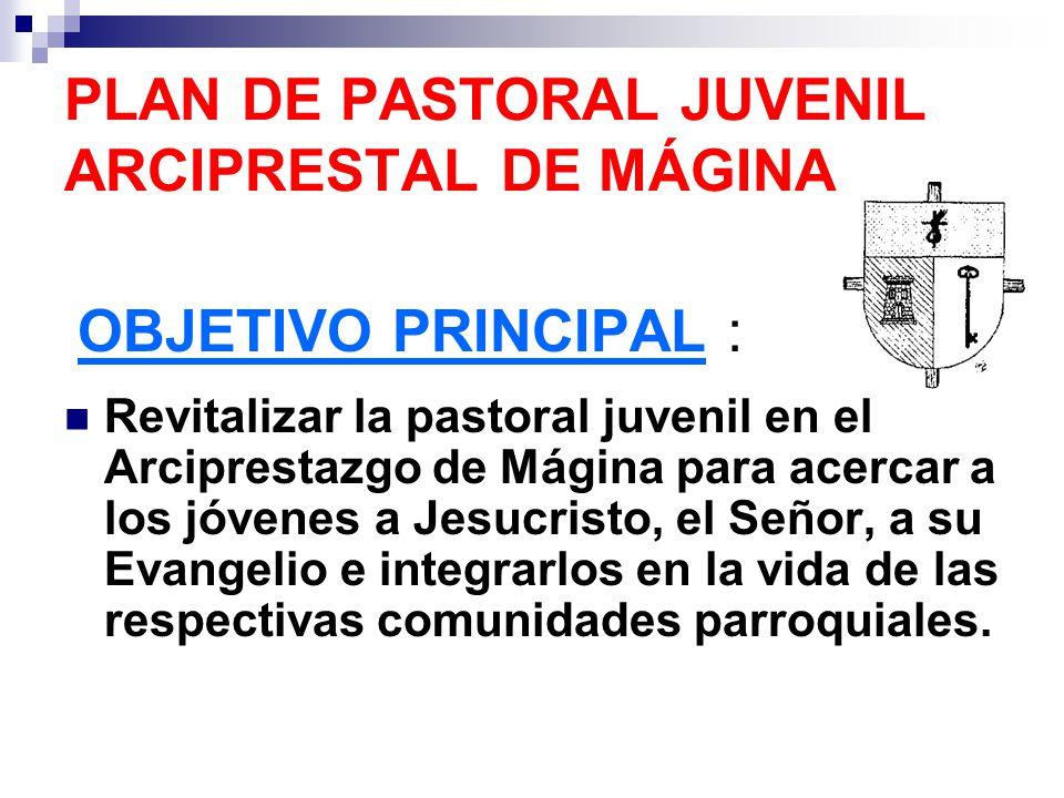 PLAN DE PASTORAL JUVENIL ARCIPRESTAL DE MÁGINA