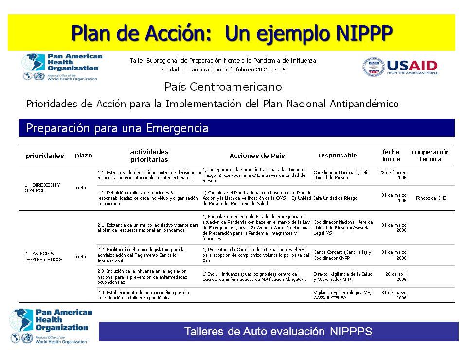 Plan de Acción: Un ejemplo NIPPP