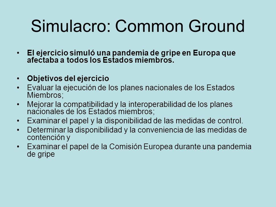 Simulacro: Common Ground