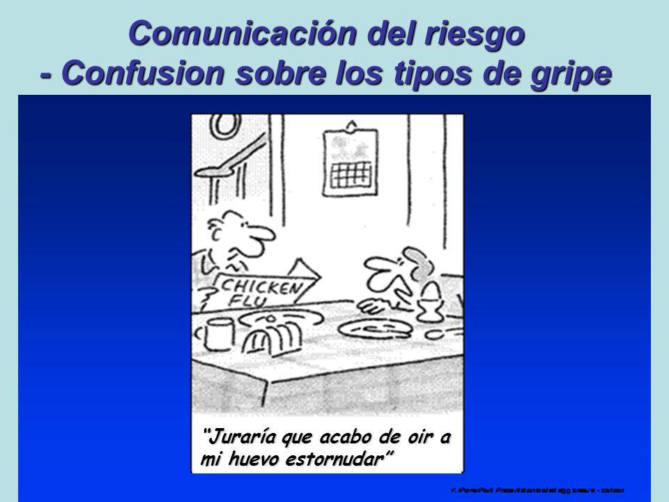 Comunicación del riesgo - Confusion sobre los tipos de gripe