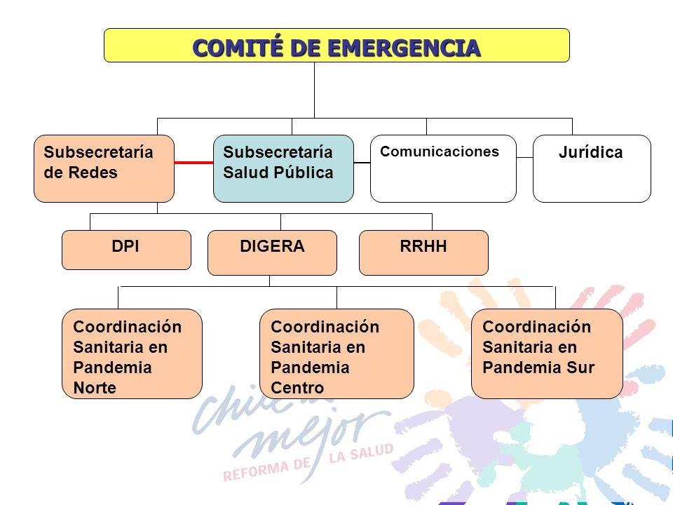 COMITÉ DE EMERGENCIA Subsecretaría de Redes
