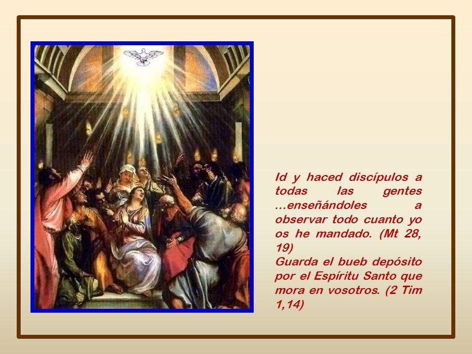 Id y haced discípulos a todas las gentes …enseñándoles a observar todo cuanto yo os he mandado. (Mt 28, 19)