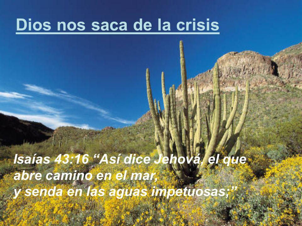 Dios nos saca de la crisis
