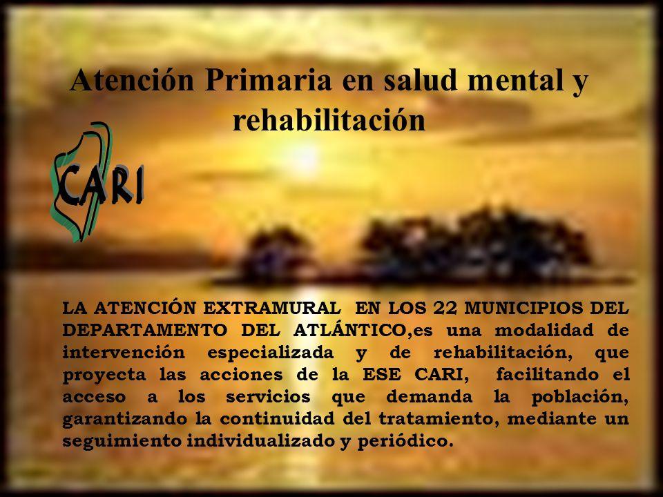 Atención Primaria en salud mental y rehabilitación