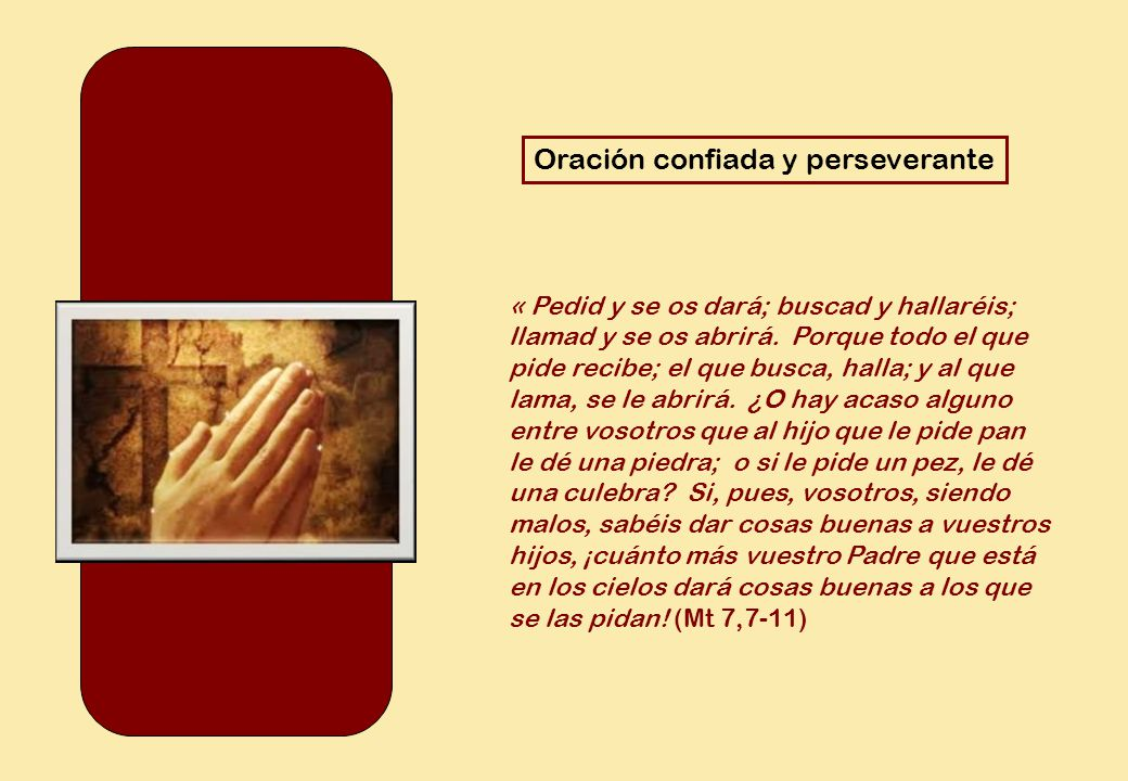 Oración confiada y perseverante