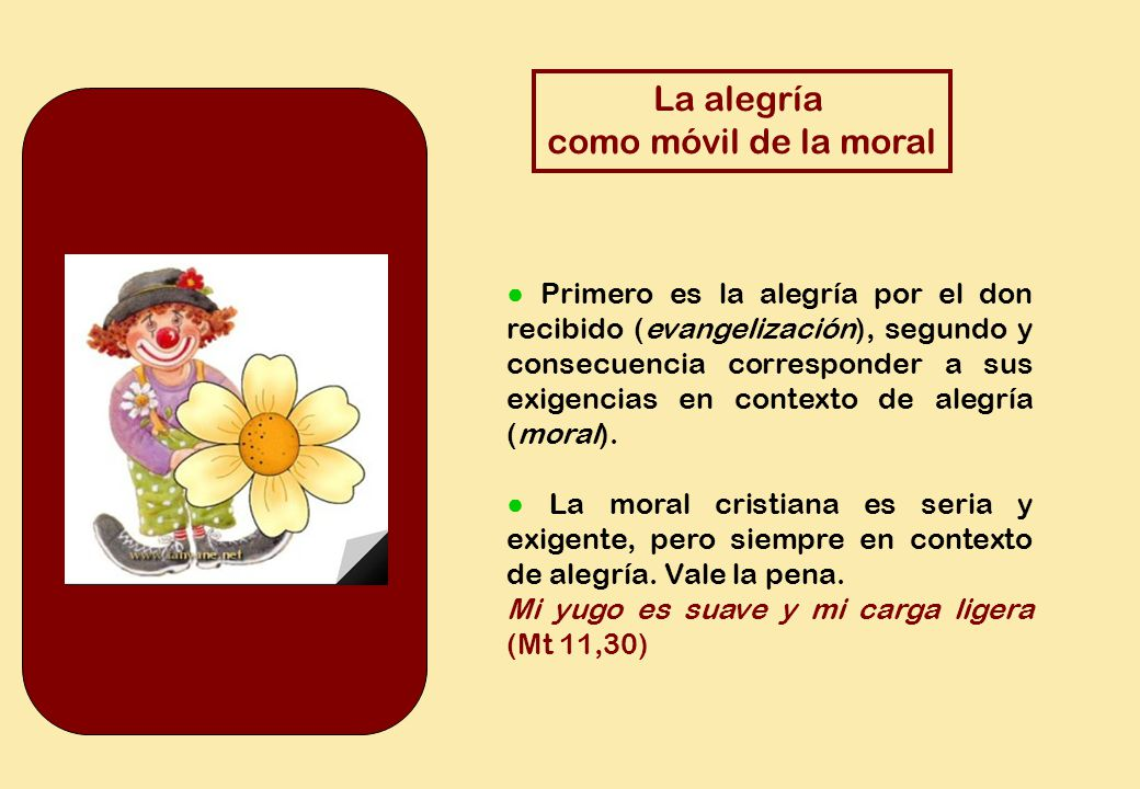 La alegría como móvil de la moral