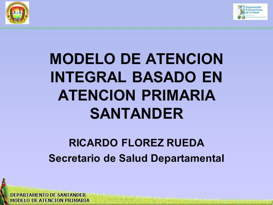 MODELO DE ATENCION INTEGRAL BASADO EN ATENCION PRIMARIA SANTANDER