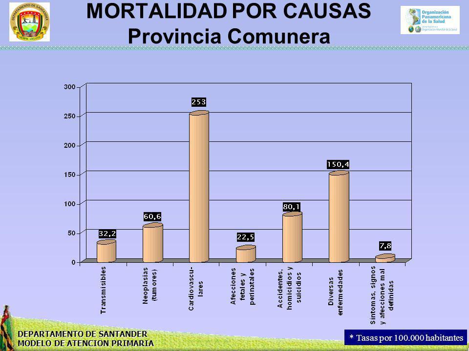 MORTALIDAD POR CAUSAS Provincia Comunera