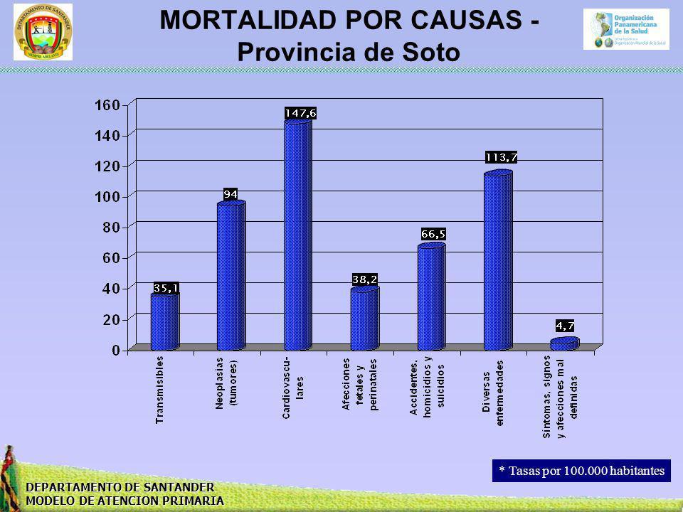 MORTALIDAD POR CAUSAS - Provincia de Soto