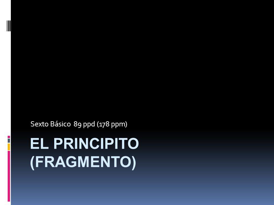 EL PRINCIPITO (FRAGMENTO)