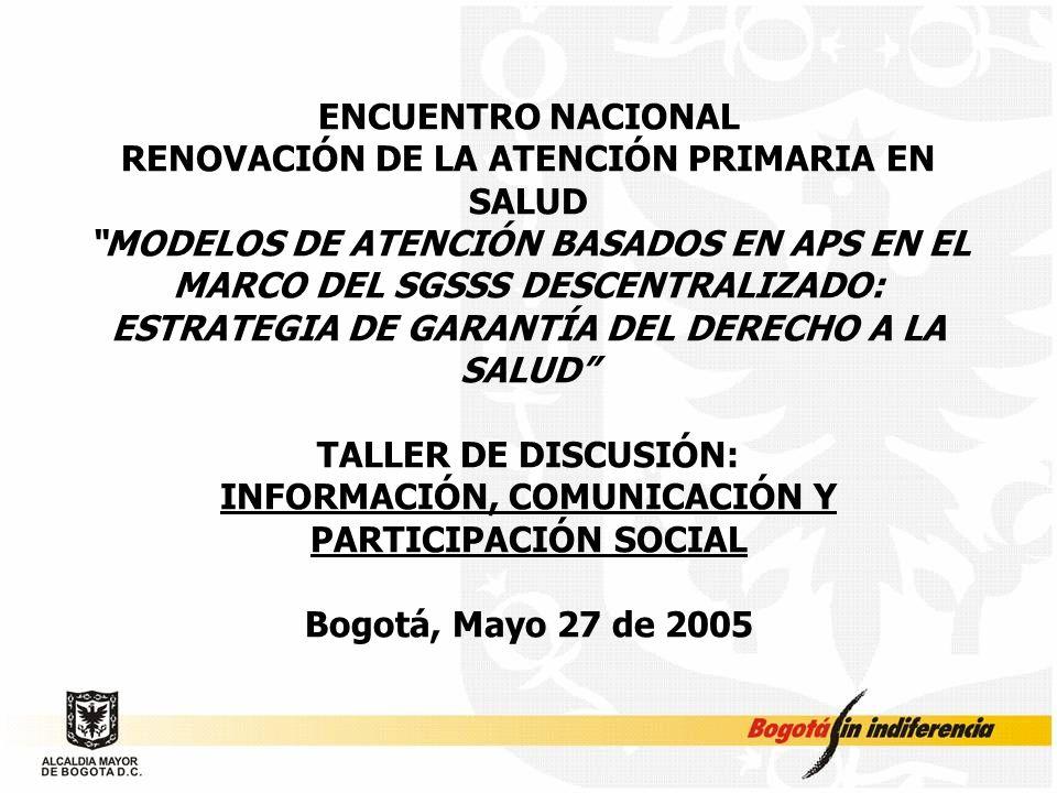RENOVACIÓN DE LA ATENCIÓN PRIMARIA EN SALUD