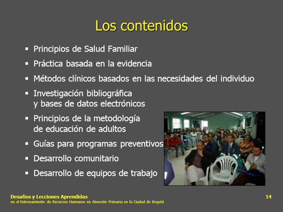 Los contenidos Principios de Salud Familiar