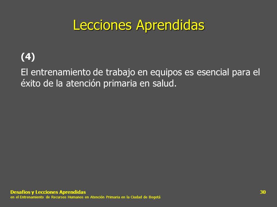 Lecciones Aprendidas (4)