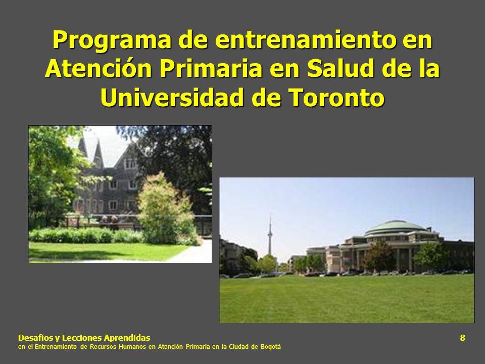 Programa de entrenamiento en Atención Primaria en Salud de la Universidad de Toronto