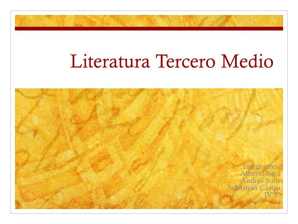 Literatura Tercero Medio