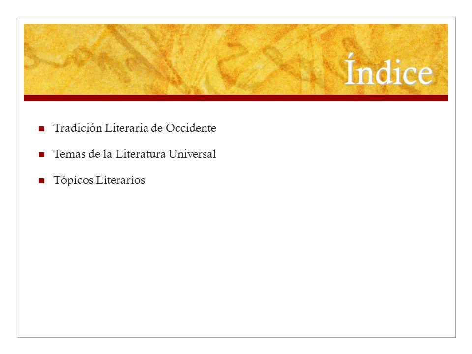 Índice Tradición Literaria de Occidente