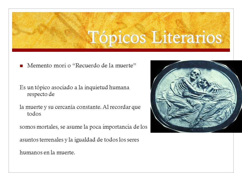 Tópicos Literarios Memento mori o Recuerdo de la muerte