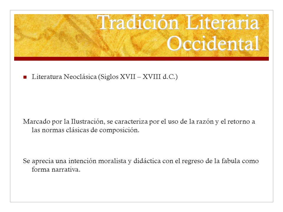 Tradición Literaria Occidental