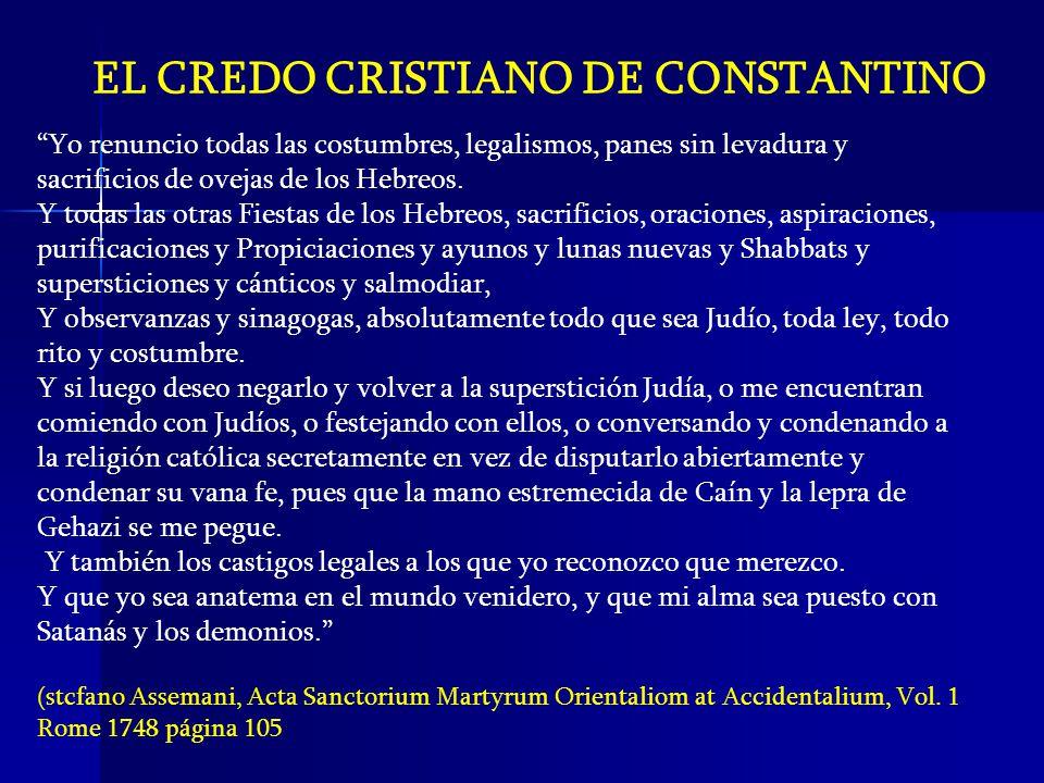 EL CREDO CRISTIANO DE CONSTANTINO
