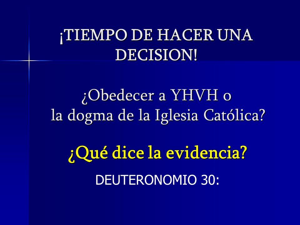 ¿Qué dice la evidencia DEUTERONOMIO 30: