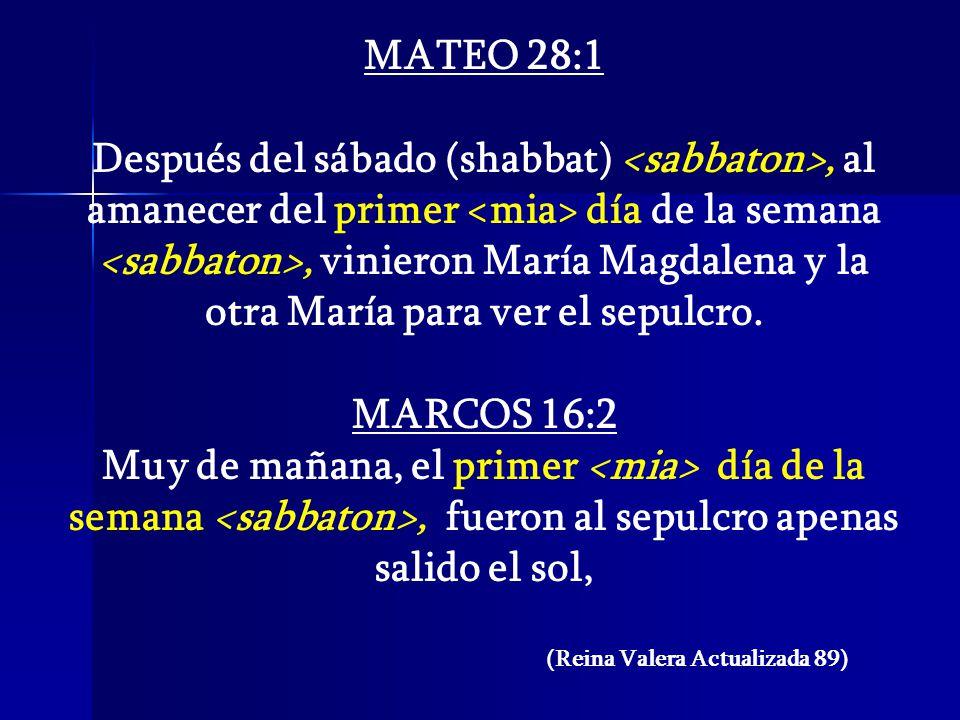 MATEO 28:1