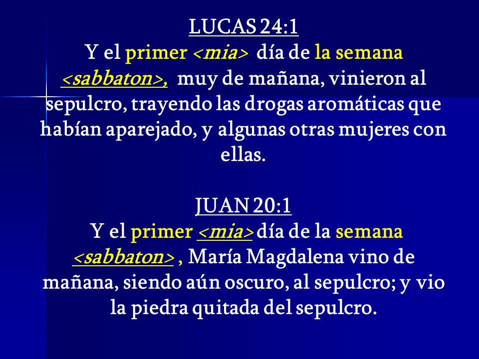 LUCAS 24:1