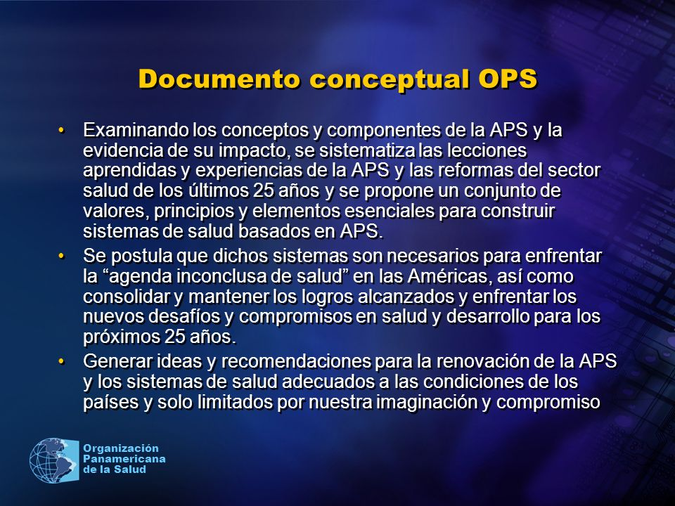 Documento conceptual OPS
