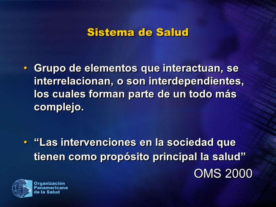 Sistema de SaludGrupo de elementos que interactuan, se interrelacionan, o son interdependientes, los cuales forman parte de un todo más complejo.
