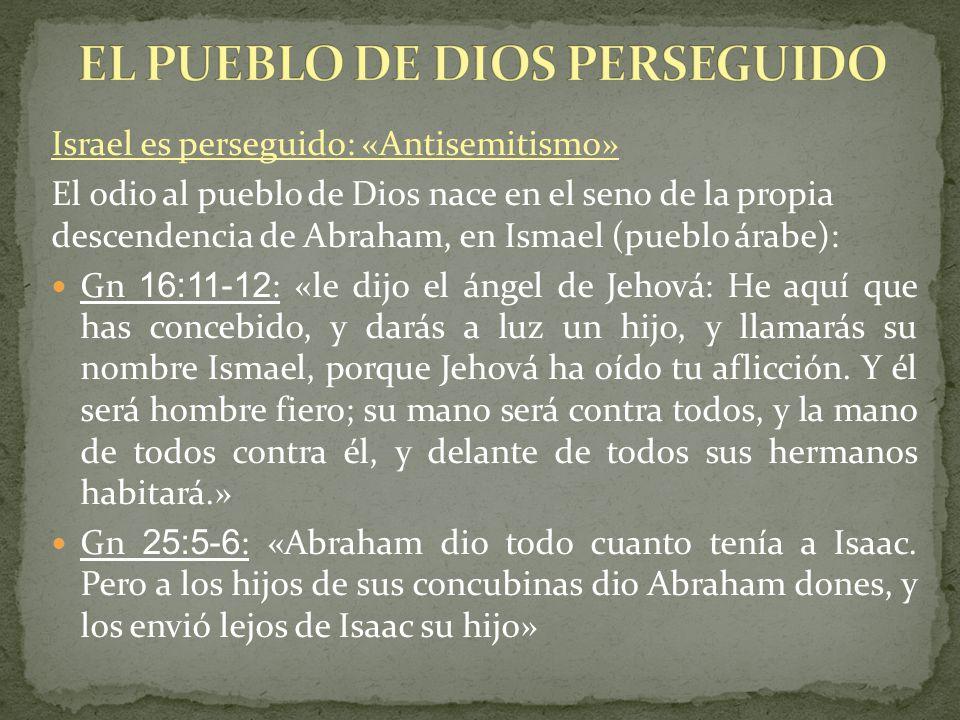 EL PUEBLO DE DIOS PERSEGUIDO