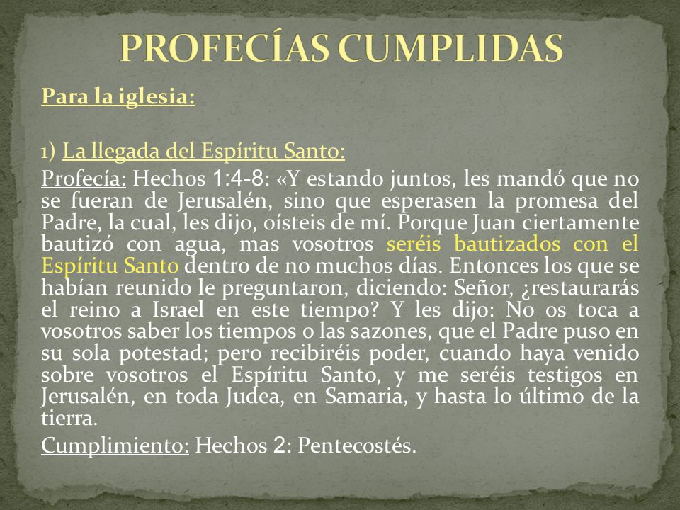 PROFECÍAS CUMPLIDAS