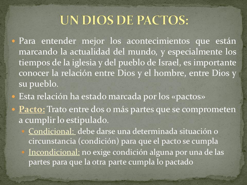 UN DIOS DE PACTOS: