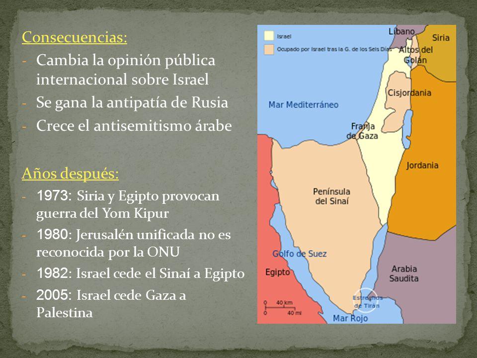 Cambia la opinión pública internacional sobre Israel