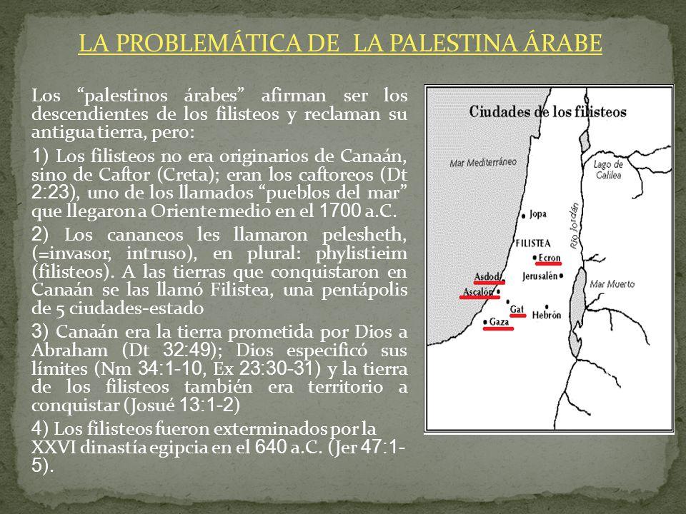 LA PROBLEMÁTICA DE LA PALESTINA ÁRABE