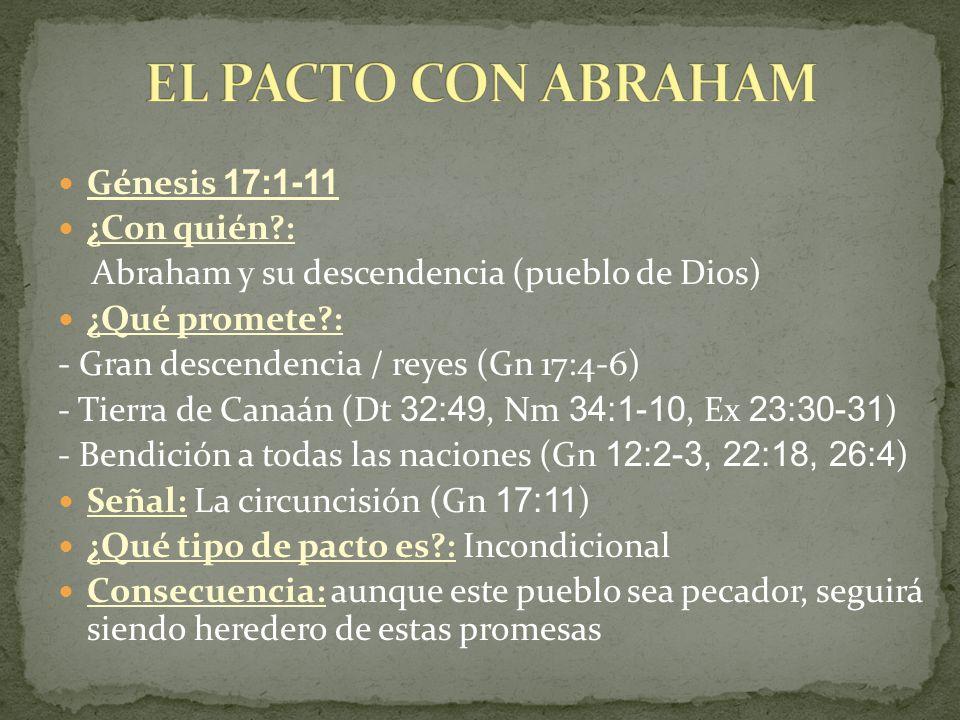 EL PACTO CON ABRAHAM Génesis 17:1-11 ¿Con quién :