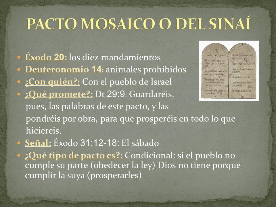 PACTO MOSAICO O DEL SINAÍ