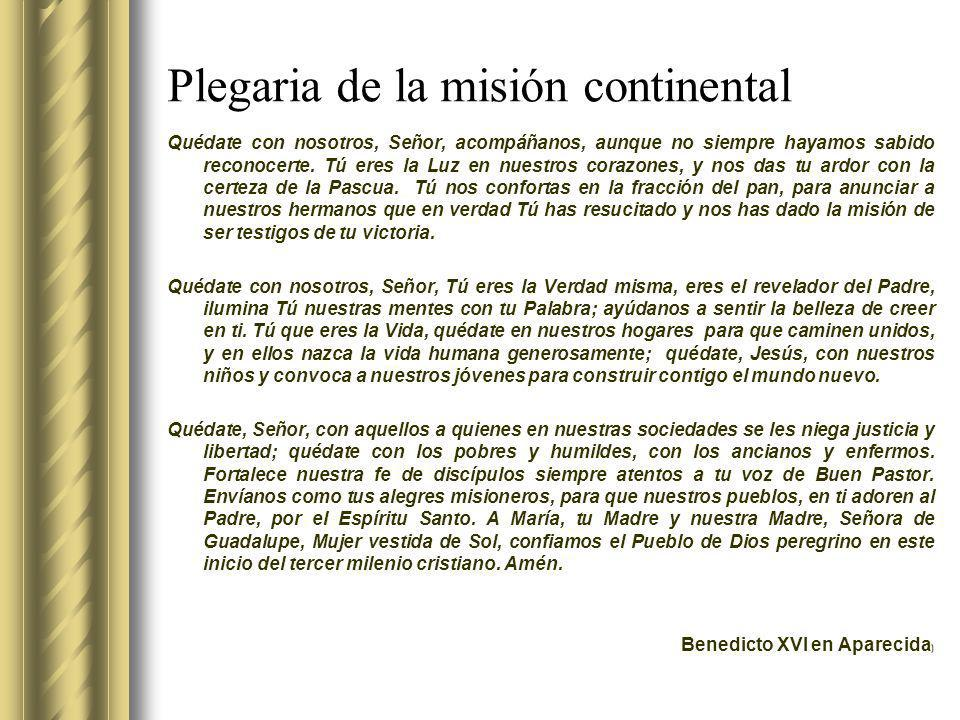 Plegaria de la misión continental