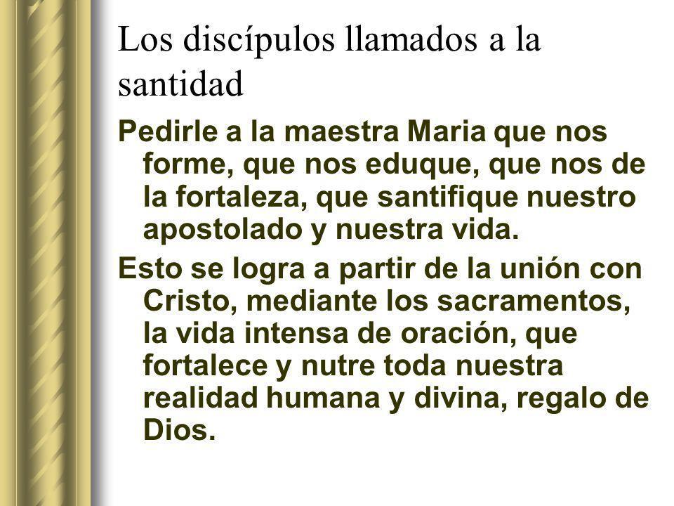 Los discípulos llamados a la santidad