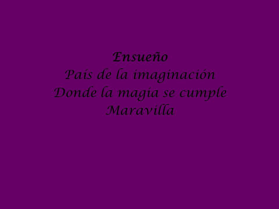 Ensueño País de la imaginación Donde la magia se cumple Maravilla