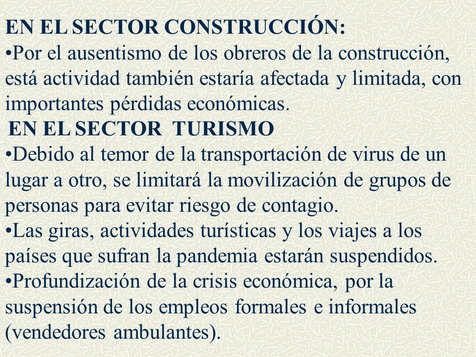EN EL SECTOR CONSTRUCCIÓN:
