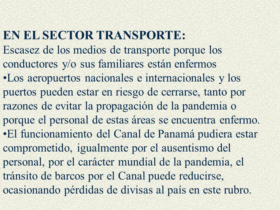 EN EL SECTOR TRANSPORTE: