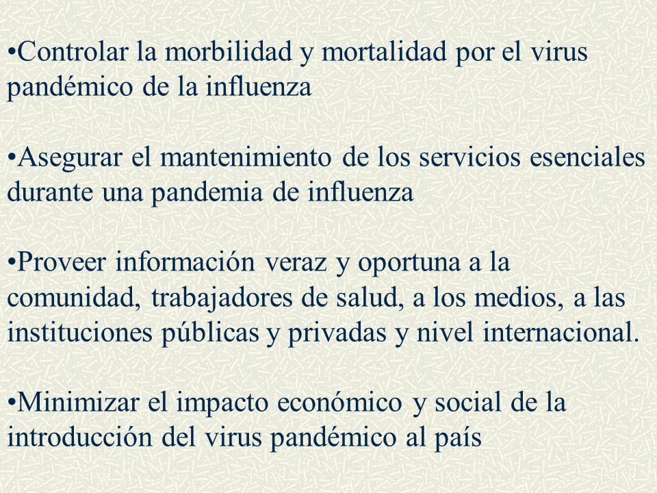 Controlar la morbilidad y mortalidad por el virus pandémico de la influenza