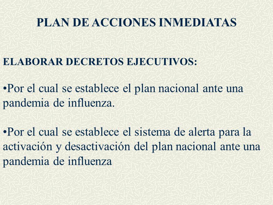 PLAN DE ACCIONES INMEDIATAS
