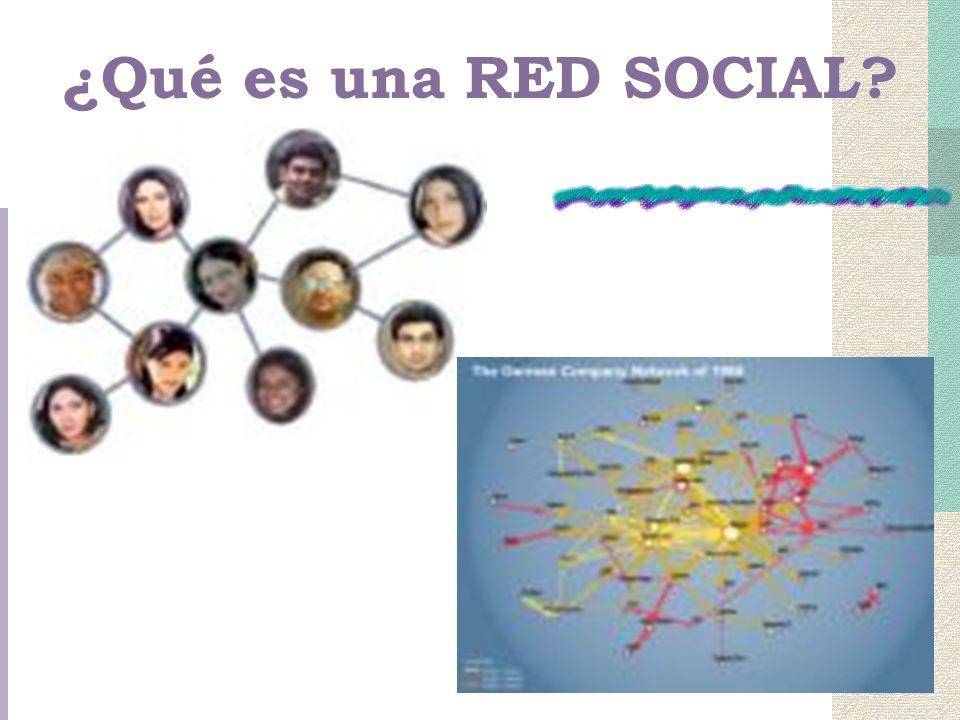 ¿Qué es una RED SOCIAL