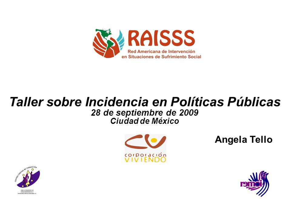 Taller sobre Incidencia en Políticas Públicas