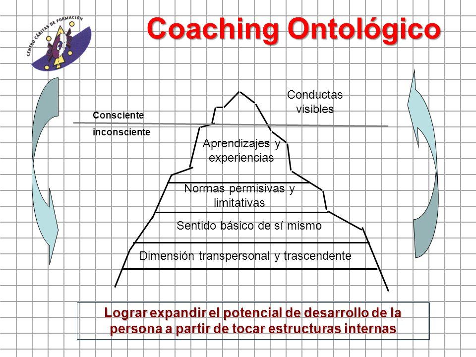 Coaching Ontológico Conductas visibles. Consciente. inconsciente. Aprendizajes y experiencias. Normas permisivas y limitativas.