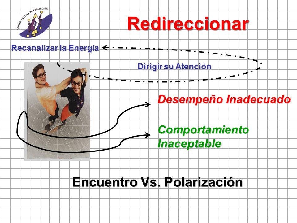 Redireccionar Encuentro Vs. Polarización Desempeño Inadecuado