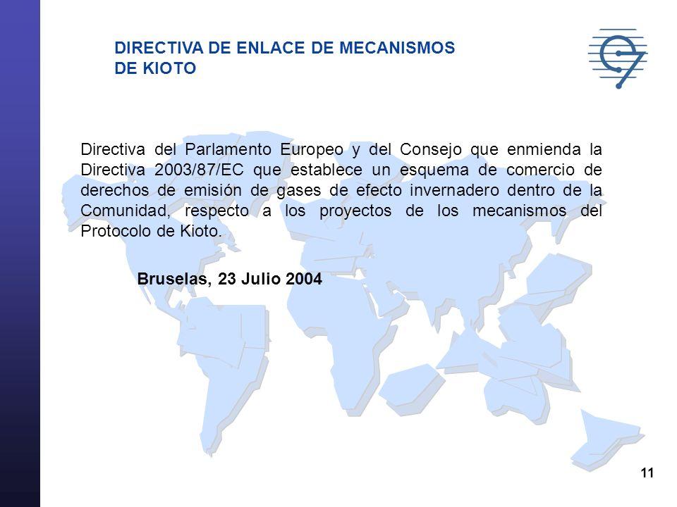 DIRECTIVA DE ENLACE DE MECANISMOS DE KIOTO